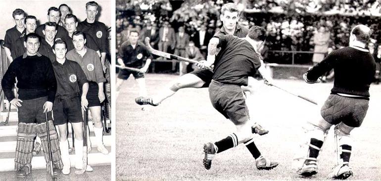 Spielszene von 1961: HCL – HC Heidelberg (0:1) am 15.04.1961