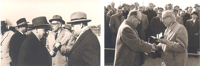 1961: Der neue Hartplatz wird eingeweiht