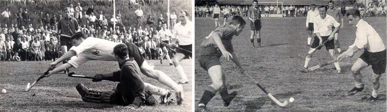 Spielszene aus dem Endspiel um die Deutsche Meisterschaft am 16.06.1962 gegen den Berliner HC