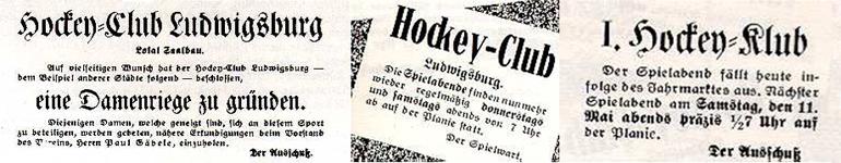 """Aufruf zur Gründung einer """"Damenriege"""" 1912 und Anzeigen aus der Ludwigsburger Zeitung 1912"""