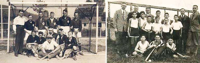 Herrenmannschaft 1930 und Jugendmannschaft 1932